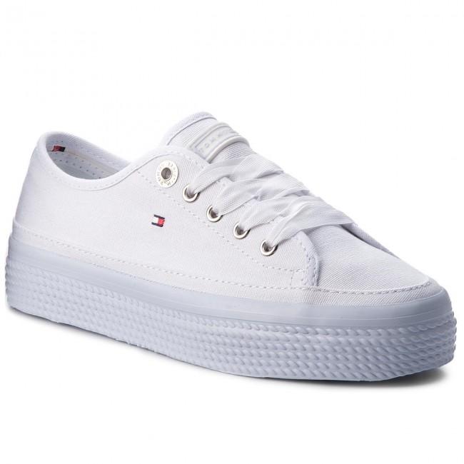 2dfa8ca2 Plimsolls TOMMY HILFIGER. Pastel Flatform Sneaker Sneaker FW0FW02994  Halogen Blue 425