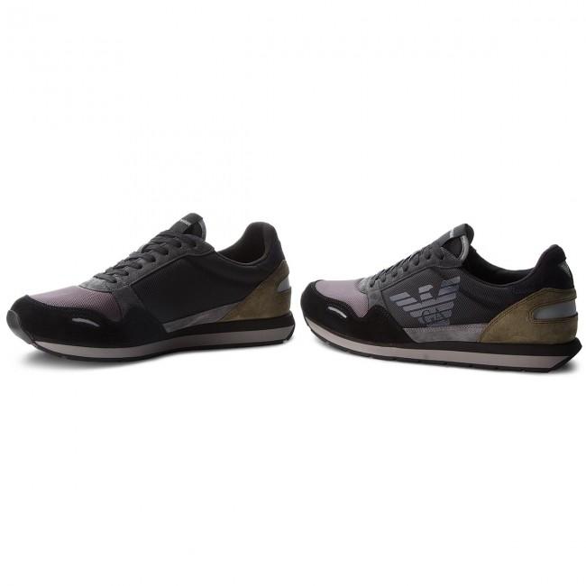 e2b6fbb0f7 Sneakers EMPORIO ARMANI - X4X215 XL200 A103 Black Ash Military ...