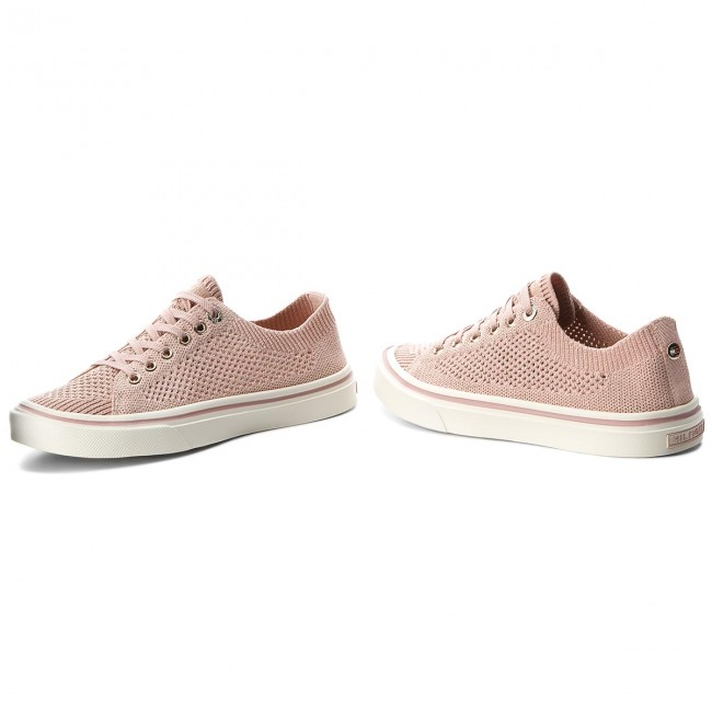 Plimsolls TOMMY HILFIGER - Knitted Light Weight Lace Up FW0FW03362 Dusty  Rose 502 bec99f8e245
