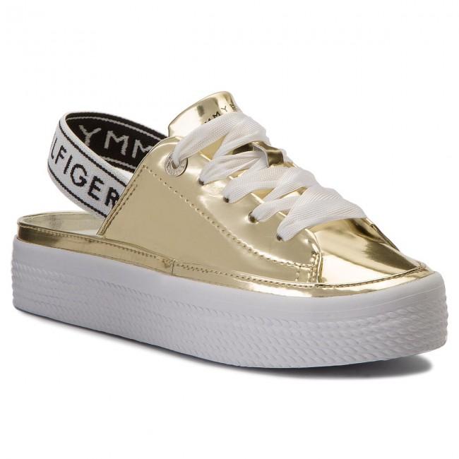 Sandals TOMMY HILFIGER - Mirrow Metal Sling Back Flatform FW0FW03380 ... e81424f2947