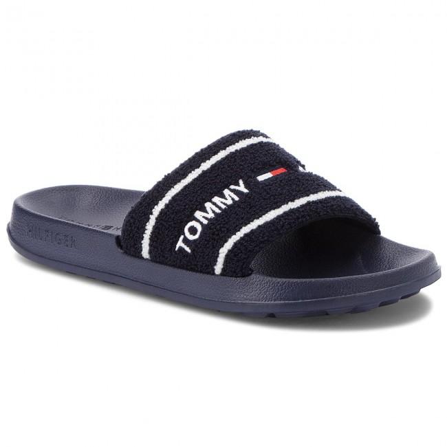 c64ff3f5b40 Slides TOMMY JEANS - Summer Slide EM0EM00159 Black Iris 431 - Clogs ...