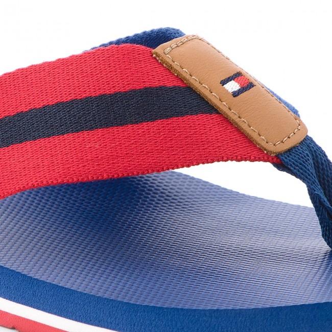 45bf1712a Slides TOMMY HILFIGER - Beach Sandal With Stripes FM0FM01597 Monaco Blue 408
