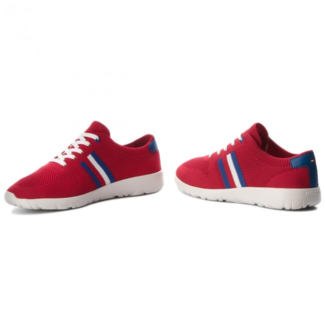 Sneakers TOMMY HILFIGER - Extra Lighweight Knitted Runner FM0FM01621 Tango  Red 611 28325d1d362