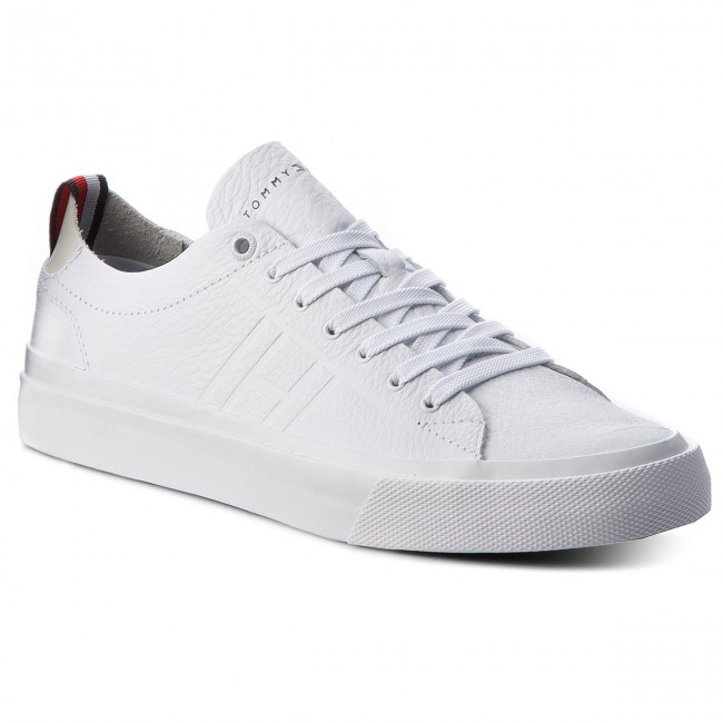 b69f104e717c39 Sneakers TOMMY HILFIGER - Unlined Low Cut Leather Sneaker FM0FM01627 White  100