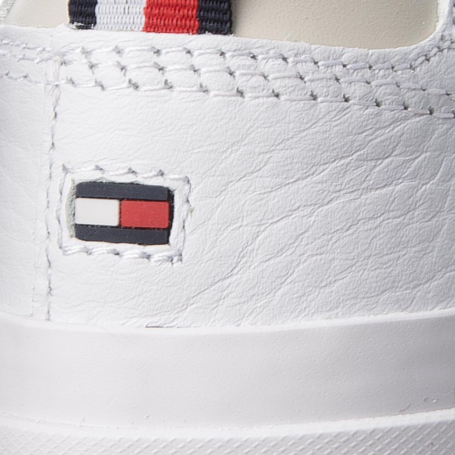 f30535ef4 Sneakers TOMMY HILFIGER - Unlined Low Cut Leather Sneaker FM0FM01627 White  100