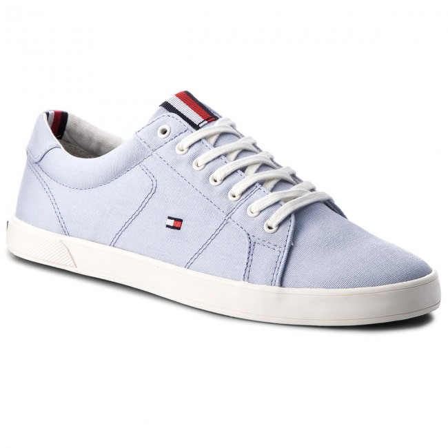 Tommy Hilfiger ICONIC LONG LACE - Trainers - halogen blue 2Y7Eu0I1QJ