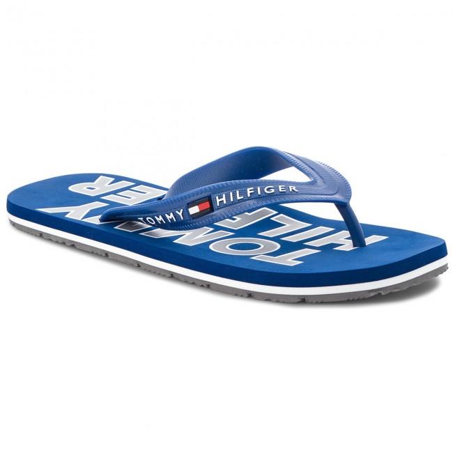 821e1f5fd Slides TOMMY HILFIGER - Sporty Beach Sandal FM0FM01673 Monaco Blue ...