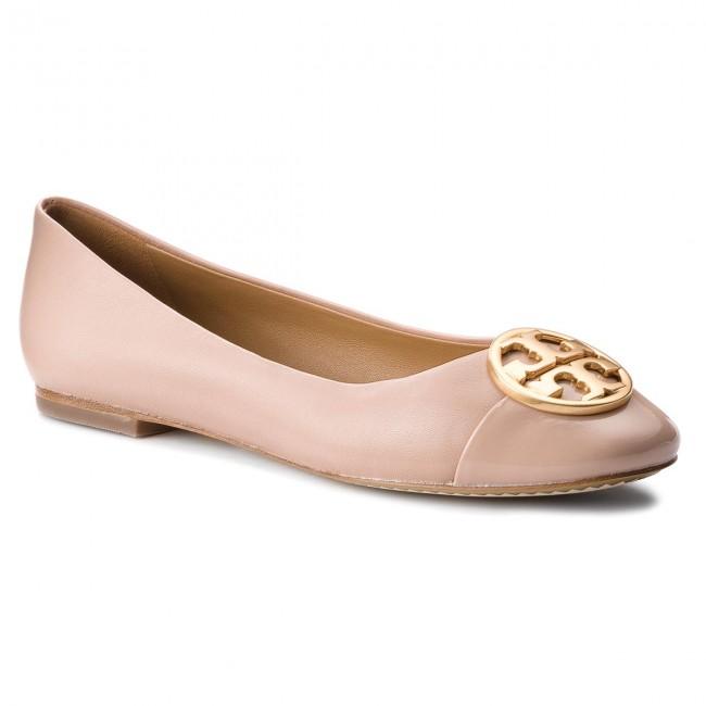 a0126a45a58b Flats TORY BURCH - Chelsea Cap-Toe Ballet 46882 Goan Sand Goan Sand ...