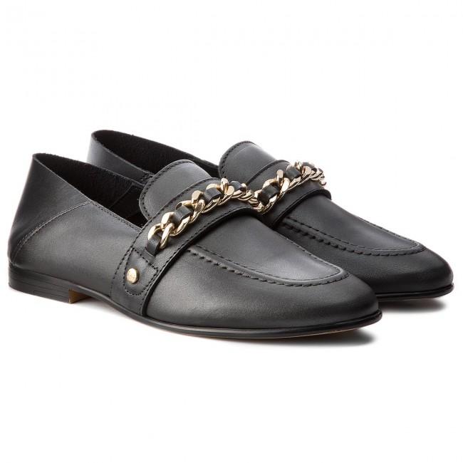 9a76d7e379c4c Shoes TOMMY HILFIGER - Chain Detail Loafer FW0FW02936 Black 990 ...