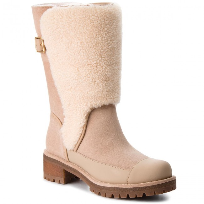 3b43a1ef6 Knee High Boots TORY BURCH - Sloan Shearling Boot 49198 Perfect Sand ...