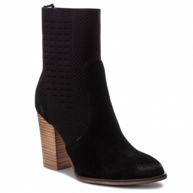 7c2dd34691047 Boots TOMMY HILFIGER - Knit Heeled Boot FW0FW02941 Black 990 - Boots ...