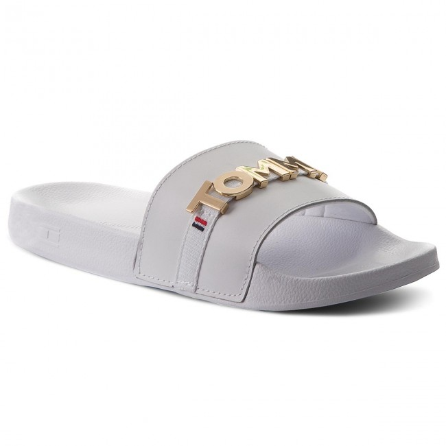 f5f49d530740c1 Slides TOMMY HILFIGER - Beach Slide FW0FW02965 White 100 - Casual ...
