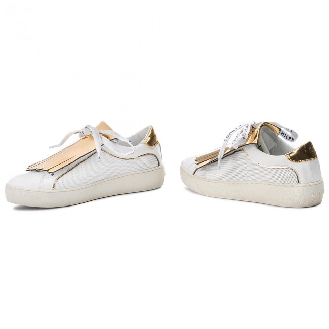 406e5e4967ff6 Sneakers TOMMY HILFIGER - Playful Leather Iconic Sneaker FW0FW02978 White  100