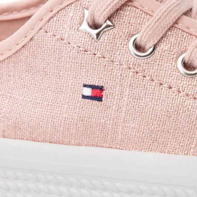 Plimsolls TOMMY HILFIGER - Metallic Flatform Sneaker FW0FW02984 Dusty Rose  502 903ff95e024
