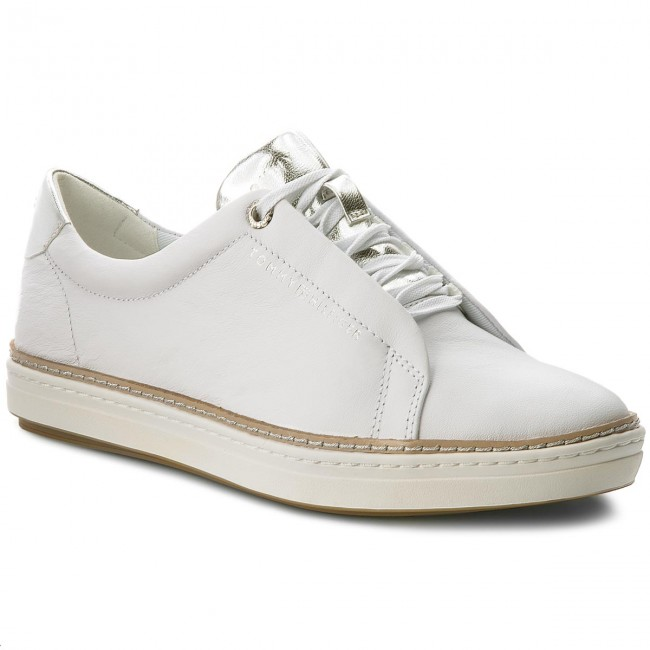 80fb21772895b8 Sneakers TOMMY HILFIGER - Leather City Sneaker FW0FW02991 White 100 ...
