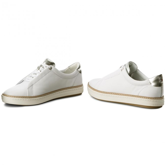 Sneakers TOMMY HILFIGER - Leather City Sneaker FW0FW02991 White 100