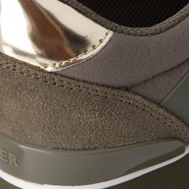 Sneakers TOMMY HILFIGER - Mixed Material Lifestyle Sneaker FW0FW03011 Dusty Olive 011 ya71mCgSV7