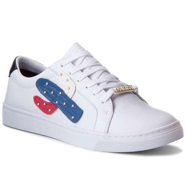 6658c95fd77ef Sneakers TOMMY HILFIGER. Embelish Essential Sneaker FW0FW03388 White 100