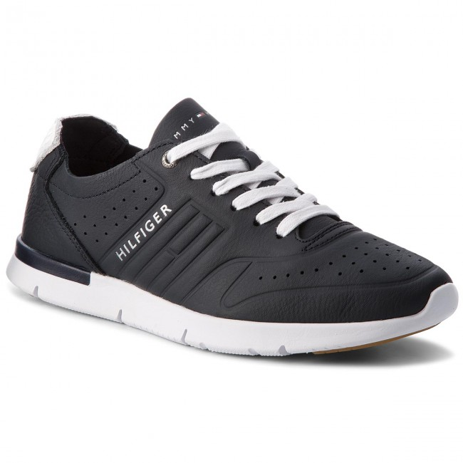 b81461166e5c56 Sneakers TOMMY HILFIGER - Unlined Th Light Leather Runner FM0FM01630  Midnight 403