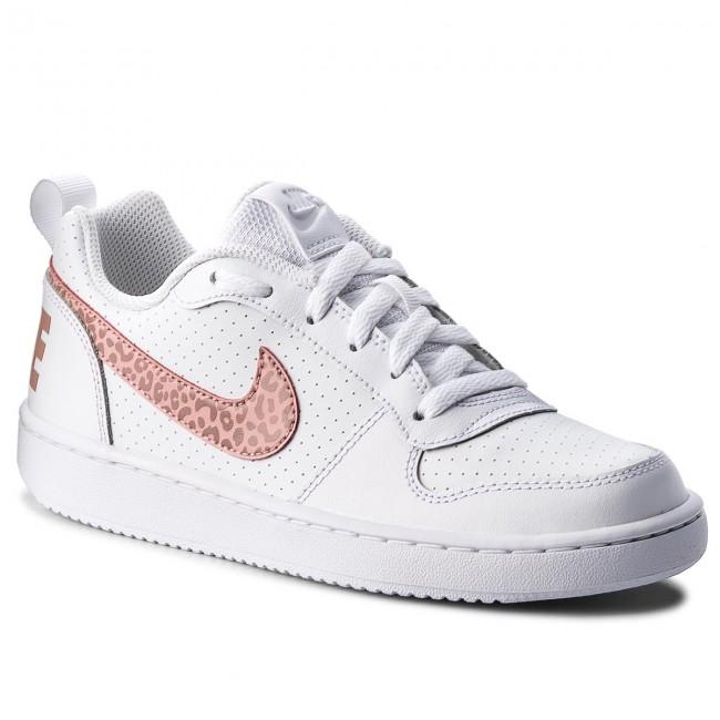 Nike Cour Arrondissement Bas (gs) Chaussures De Sport Kinderen - Blanc / Rose Rouille Stardust-corail Drjf2oVtEC
