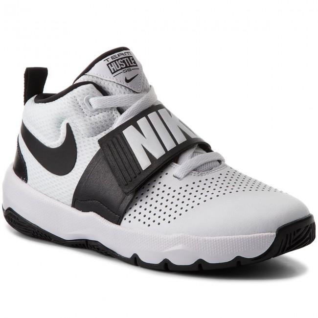 best sneakers e9943 79ba7 Shoes NIKE. Team Hustle D 8 (GS) 881941 100 White Black