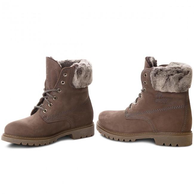 1de996c40 Hiking Boots PANAMA JACK - Felicia B17 Nobuck Gris Grey - Boots ...
