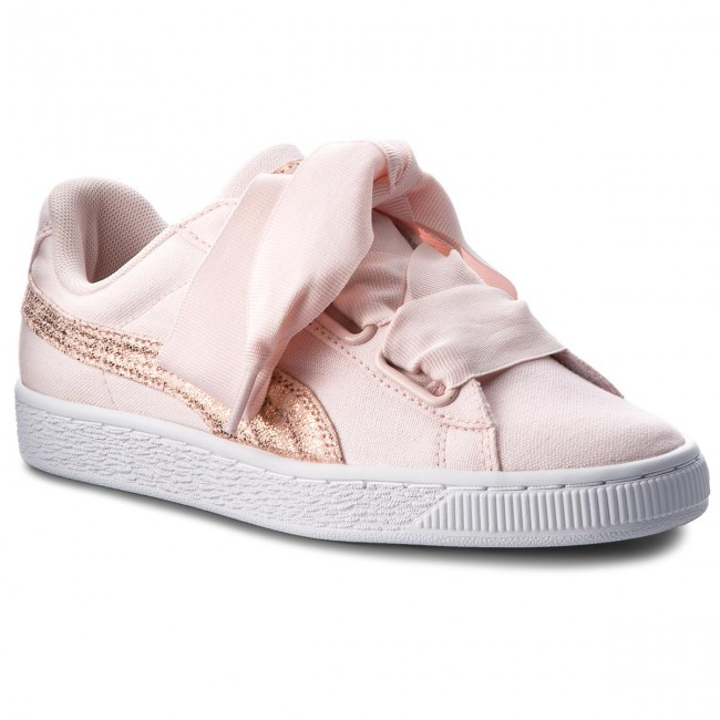 7d46ee40907a04 Sneakers PUMA - Basket Heart Canvas 366495 02 Pearl Puma White Rose Gold