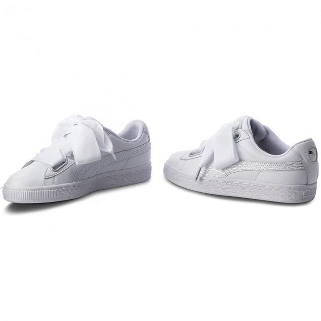 White PUMA Sneakers BASKET HEART OCEANAIRE