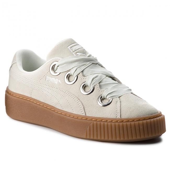 77ff18d5057c52 Sneakers PUMA - Platform Kiss Suede 366461 02 Blue Flower Puma ...