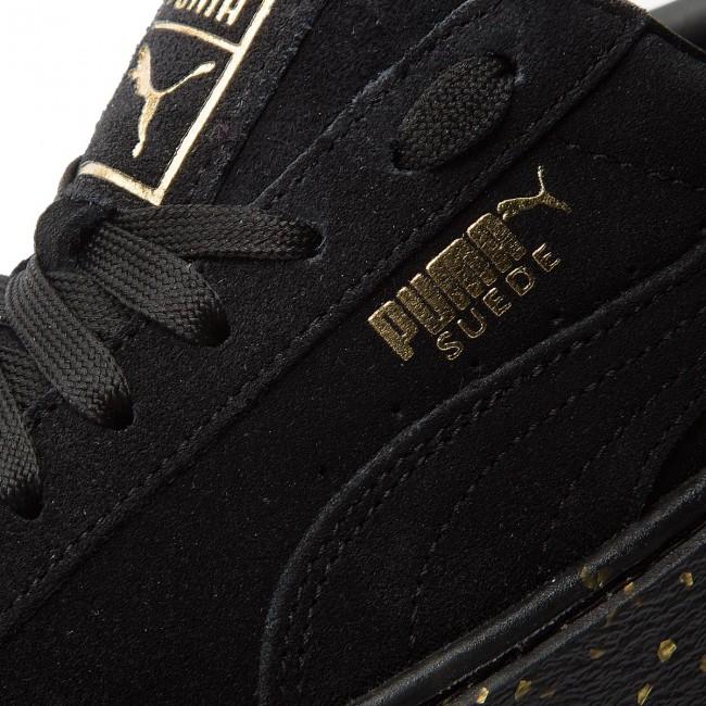 Sneakers PUMA - Suede Platform Celebrate 365621 01 Puma Black Puma Team Gold f7e9de92e6525
