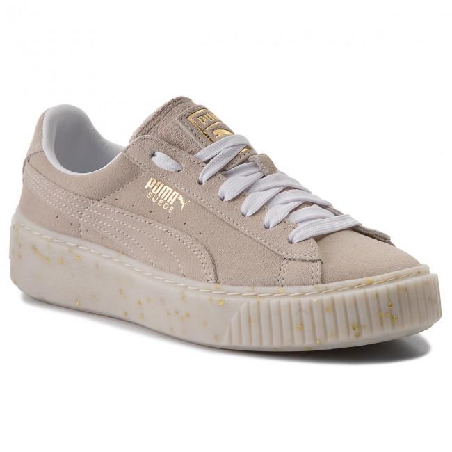 c31d414ccff9 Sneakers PUMA. Suede Platform Celebrate 365621 02 Puma White Puma Team Gold