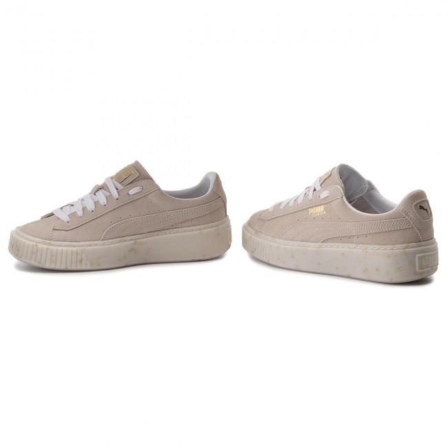 1304c50c0cd9 Sneakers PUMA - Suede Platform Celebrate 365621 02 Puma White Puma Team Gold