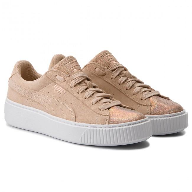 1910be9985f Sneakers PUMA - Suede Platform LunaLux 366111 02 Cream Tan