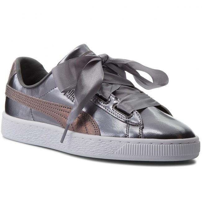 f3f1521b8c2b Sneakers PUMA - Basket Heart Lunar Lux Jr 365993 01 Smoked Pearl