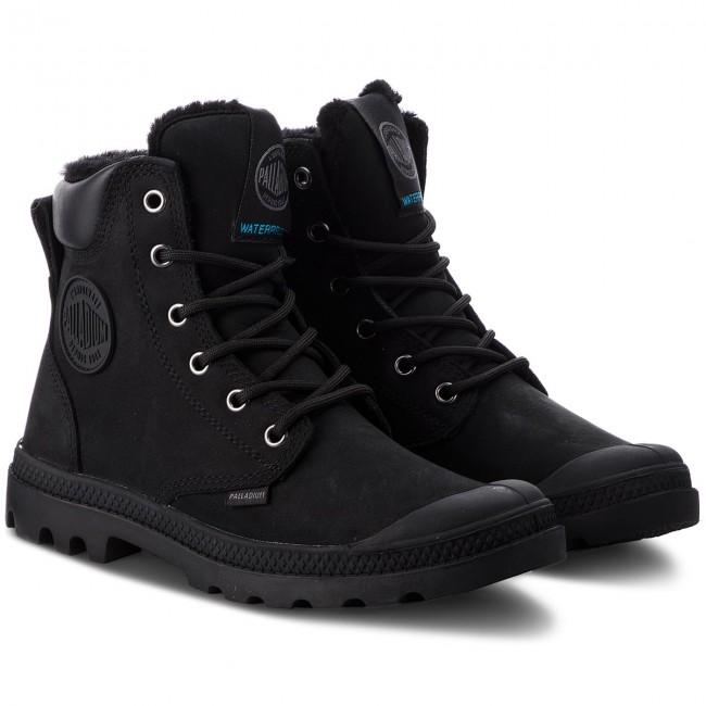 Hiking Boots PALLADIUM - Pampa Sport Cuff Wps 72992-010-M Black Black -  Trekker boots - High boots and others - Women s shoes - www.efootwear.eu 3981f2b755a