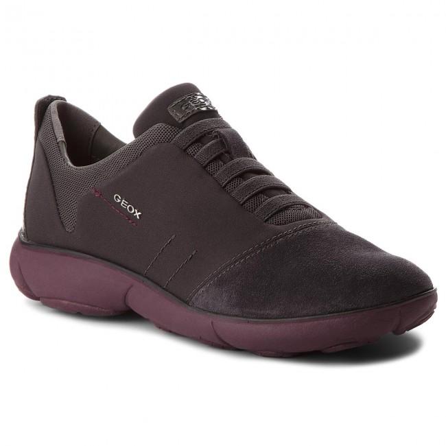 Shoes GEOX - D Nebula G D641EG 01122 C9189 Dk Grey/Prune