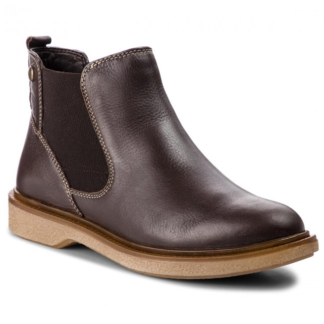 9 Ankle Boots Caprice Dk Sides Brown Nappa 25362 31 337 Elastic EW29eIDHY