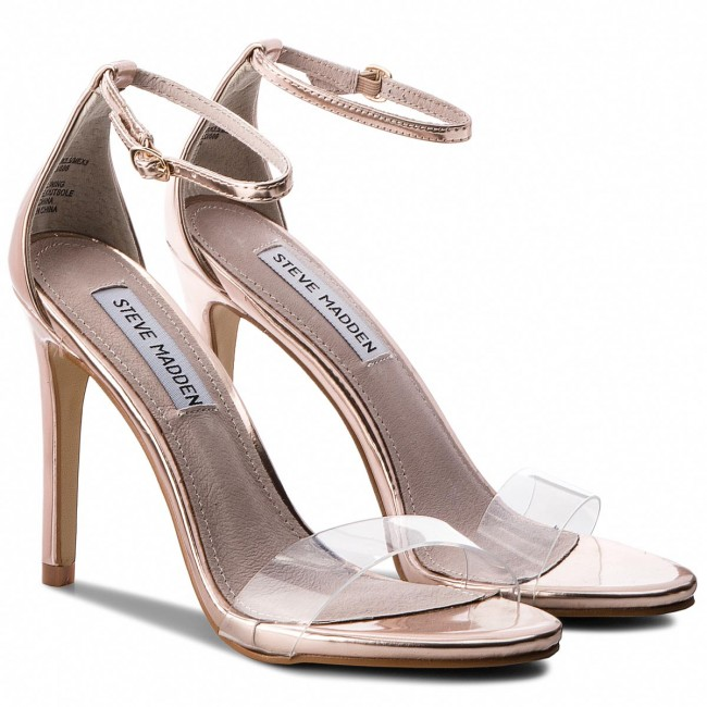 sale retailer d64a8 cfd58 Sandals STEVE MADDEN - Stecy-C High Heel Sandal 91001144-07099-15002 Rose  Gold
