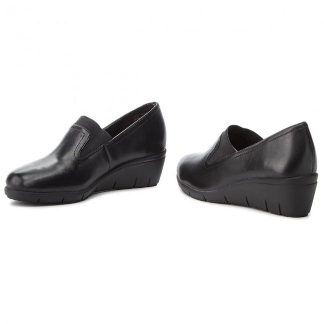 c322cf8b3854 Shoes CAPRICE - 9-24701-21 Black Nappa 022 - Wedge-heeled shoes ...