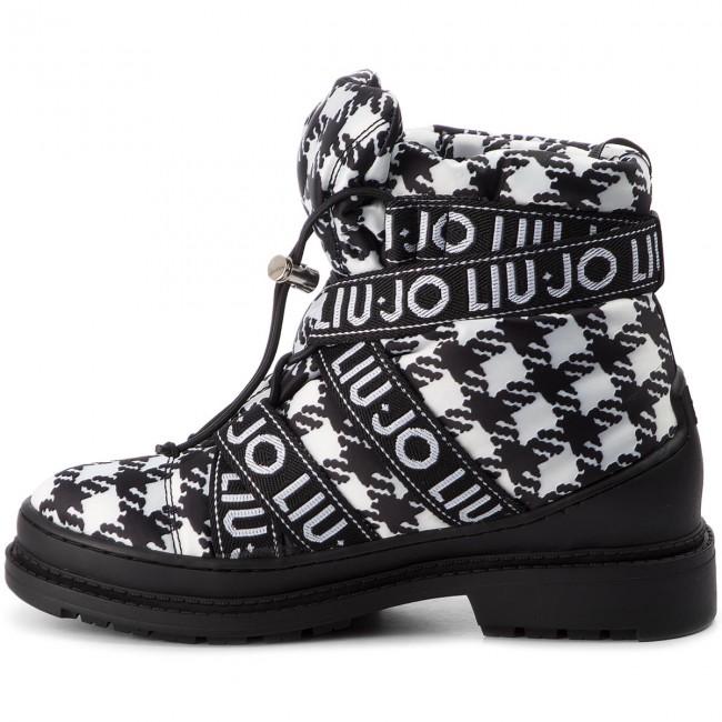 Boots LIU JO - Alison 02 S68017 TX019 Black White 00054 - Boots - High boots  and others - Women s shoes - www.efootwear.eu 19de1708d50