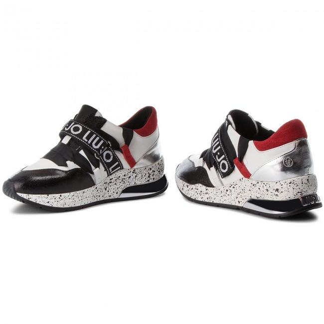 c1da902334 Sneakers LIU JO - Karlie 03 B68001 PX001 Black/White/Red - Sneakers ...