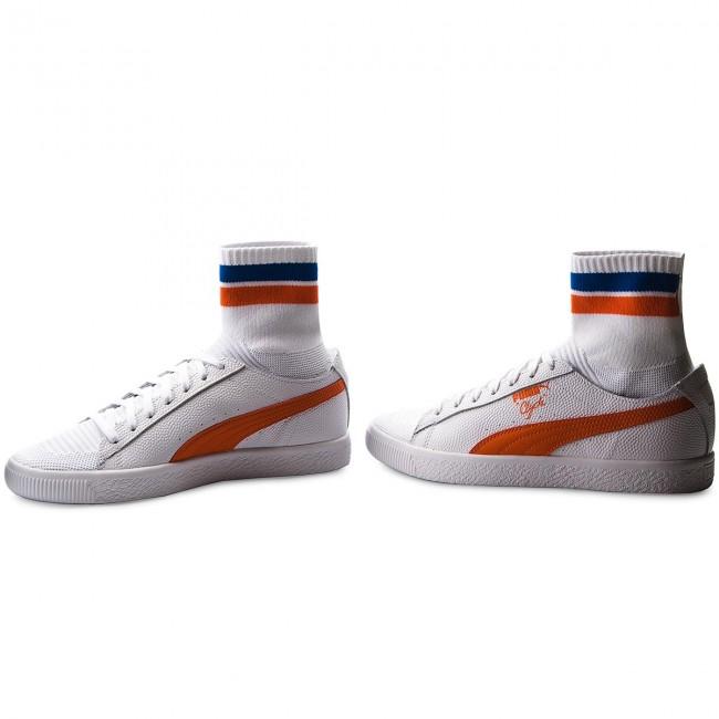 Sneakers PUMA - Clyde Sock NYC 364948 04 Pwhite Scarlet Ibis Pwhite ... fe9d7411c