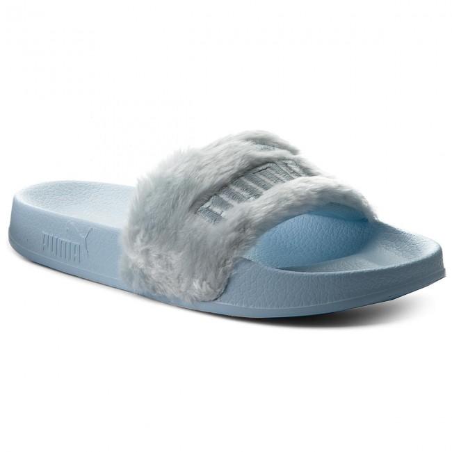 92f1f0e1c Slides PUMA - Fur Slide 365772 03 Cool Blue/Puma Silver - Casual mules -  Mules - Mules and sandals - Women's shoes - efootwear.eu