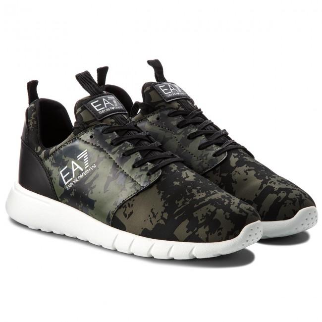 8e2c768d32e1 Sneakers EA7 EMPORIO ARMANI - X8X010 XK010 A001 Camo Print Green - Sneakers  - Low shoes - Men s shoes - www.efootwear.eu