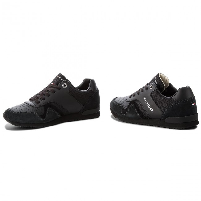 241a008a4d272f Sneakers TOMMY HILFIGER - Iconic Leather Texti FM0FM01732 Black 990 ...