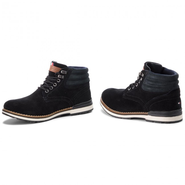 5e16cc4f58a8 Hiking Boots TOMMY HILFIGER - Outdoor Suede Boot FM0FM01748 Black ...