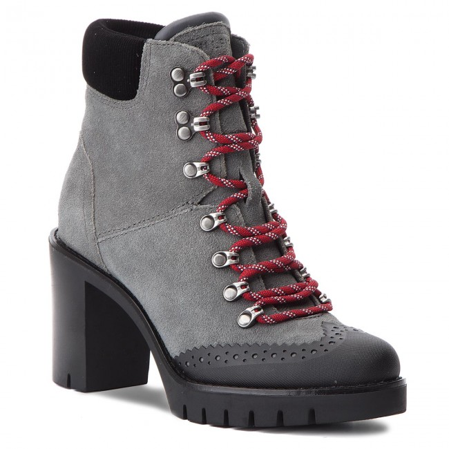 1c6a4a79c Boots TOMMY HILFIGER - Modern Hiking Heeled FW0FW03057 Magnet 008 ...