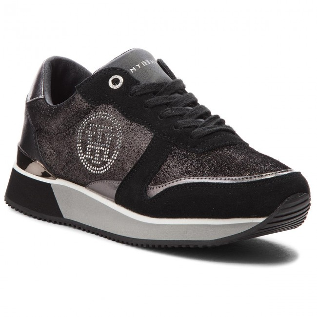 Sneakers TOMMY HILFIGER - Stud City Snea FW0FW03229 Black 990 ... 324a0afc6a