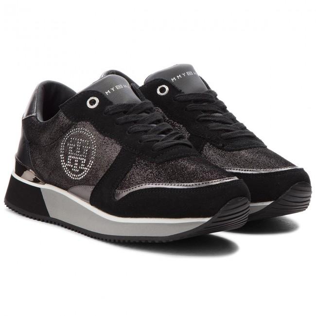 466ce9814914 Sneakers TOMMY HILFIGER - Stud City Snea FW0FW03229 Black 990 - Sneakers -  Low shoes - Women s shoes - www.efootwear.eu