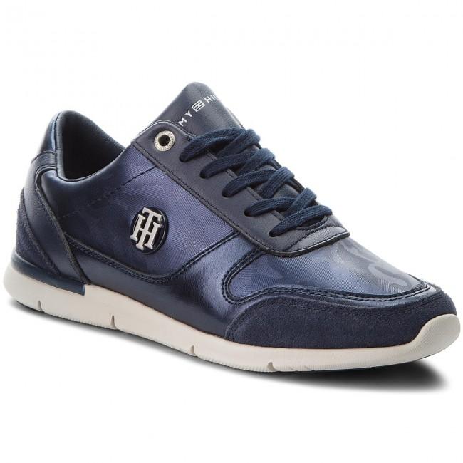 d7cbdbc6bb Sneakers TOMMY HILFIGER. Camo Metallic Light Sneaker FW0FW03231 Tommy Navy  406